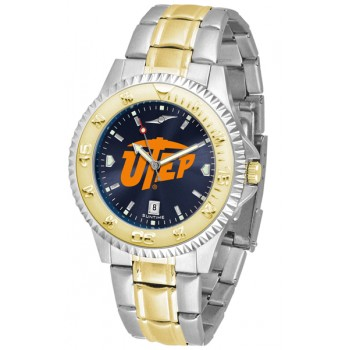 University Of Texas El Paso Mens Watch - Competitor Anochrome Two-Tone
