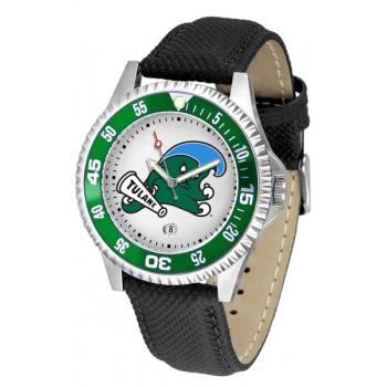 Tulane University Green Wave Mens Watch - Competitor Poly/Leather Band