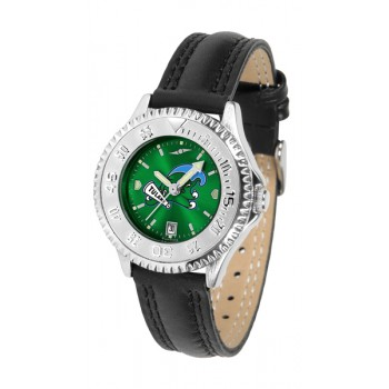 Tulane University Green Wave Ladies Watch - Competitor Anochrome Poly/Leather Band