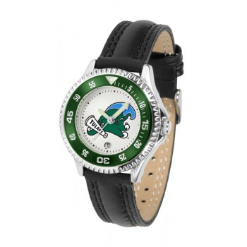 Tulane University Green Wave Ladies Watch - Competitor Poly/Leather Band