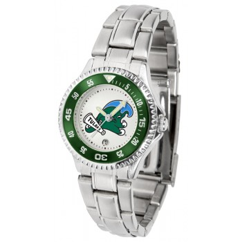 Tulane University Green Wave Ladies Watch - Competitor Steel Band