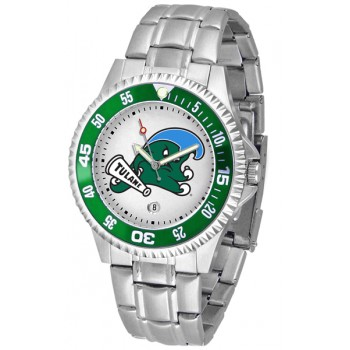Tulane University Green Wave Mens Watch - Competitor Steel Band