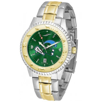 Tulane University Green Wave Mens Watch - Competitor Anochrome Two-Tone