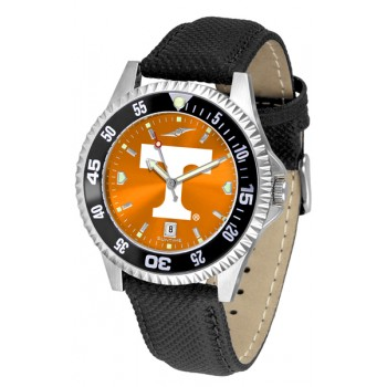 University Of Tennessee Volunteers Mens Watch - Competitor Anochrome Colored Bezel Poly/Leather Band