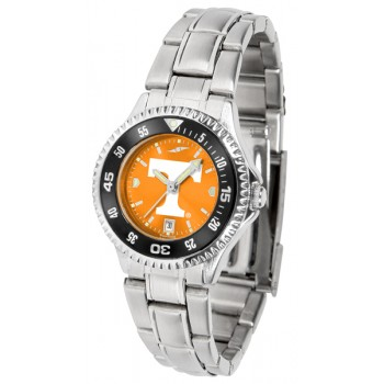 University Of Tennessee Volunteers Ladies Watch - Competitor Anochrome - Colored Bezel - Steel Band