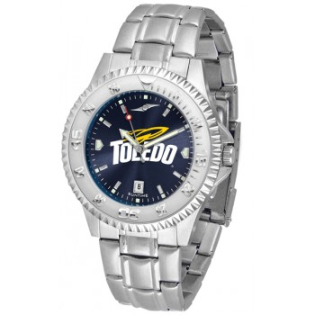 University Of Toledo Rockets Mens Watch - Competitor Anochrome Steel Band