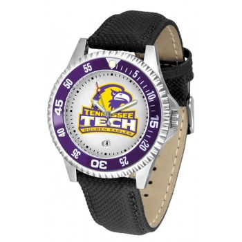 Tennessee Tech University Golden Eagles Mens Watch - Competitor Poly/Leather Band