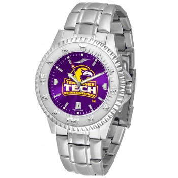 Tennessee Tech University Golden Eagles Mens Watch - Competitor Anochrome Steel Band