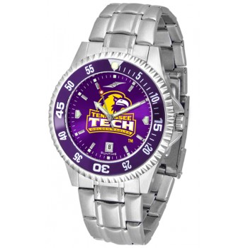 Tennessee Tech University Golden Eagles Mens Watch - Competitor Anochrome - Colored Bezel - Steel Band