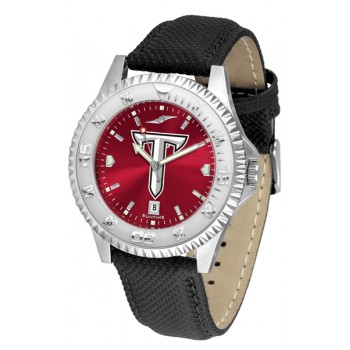 Troy University Trojans Mens Watch - Competitor Anochrome Poly/Leather Band