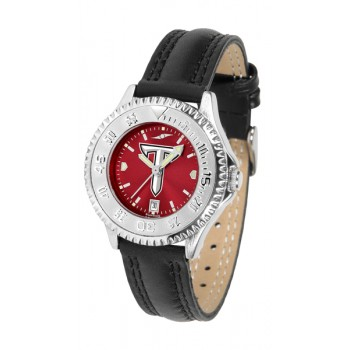 Troy University Trojans Ladies Watch - Competitor Anochrome Poly/Leather Band