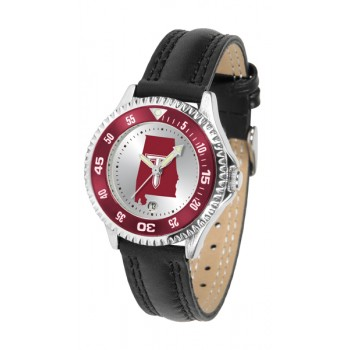 Troy University Trojans Ladies Watch - Competitor Poly/Leather Band