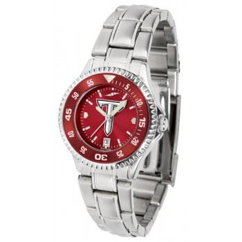 Troy University Trojans Ladies Watch - Competitor Anochrome - Colored Bezel - Steel Band