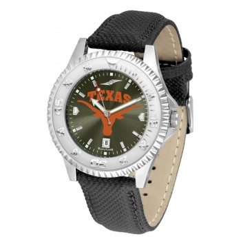 University Of Texas Longhorns Mens Watch - Competitor Anochrome Poly/Leather Band