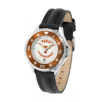 University Of Texas Longhorns Ladies Watch - Competitor Poly/Leather Band