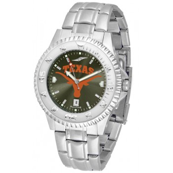 University Of Texas Longhorns Mens Watch - Competitor Anochrome Steel Band