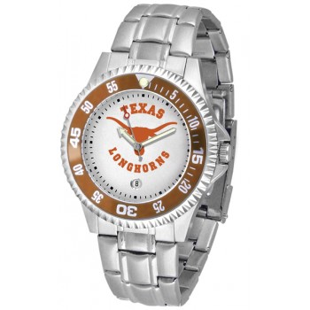 University Of Texas Longhorns Mens Watch - Competitor Steel Band