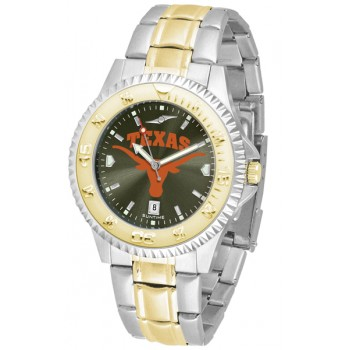 University Of Texas Longhorns Mens Watch - Competitor Anochrome Two-Tone