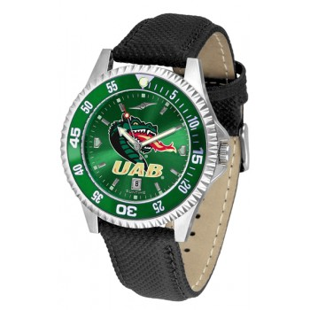 University Of Alabama At Birmingham Uab Blazers Mens Watch - Competitor Anochrome Colored Bezel Poly/Leather Band