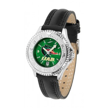 University Of Alabama At Birmingham Uab Blazers Ladies Watch - Competitor Anochrome Poly/Leather Band