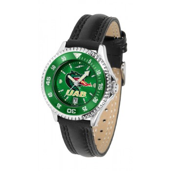 University Of Alabama At Birmingham Uab Blazers Ladies Watch - Competitor Anochrome Colored Bezel Poly/Leather Band