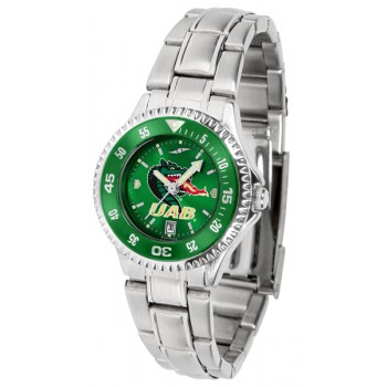 University Of Alabama At Birmingham Uab Blazers Ladies Watch - Competitor Anochrome - Colored Bezel - Steel Band