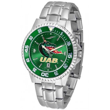 University Of Alabama At Birmingham Uab Blazers Mens Watch - Competitor Anochrome - Colored Bezel - Steel Band