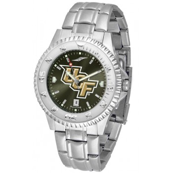 University Of Central Florida Golden Knight Mens Watch - Competitor Anochrome - Colored Bezel - Steel Band