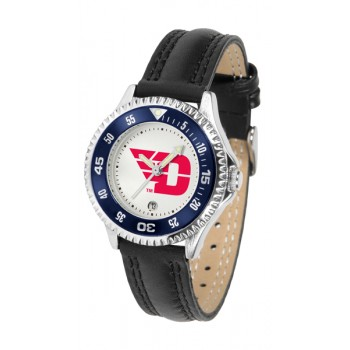 University Of Dayton Flyers Ladies Watch - Competitor Poly/Leather Band