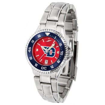 University Of Dayton Flyers Ladies Watch - Competitor Anochrome - Colored Bezel - Steel Band