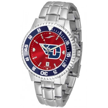 University Of Dayton Flyers Mens Watch - Competitor Anochrome - Colored Bezel - Steel Band