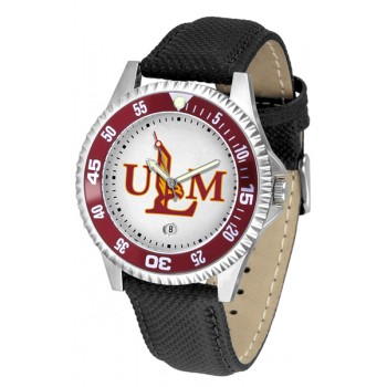 University Of Louisiana Monroe Warhawks Mens Watch - Competitor Poly/Leather Band