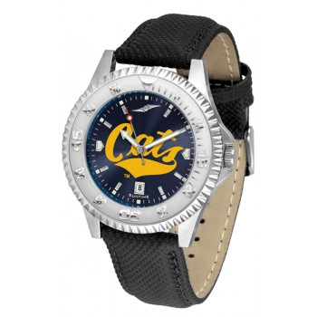 Montana State University Bobcats Mens Watch - Competitor Anochrome Poly/Leather Band