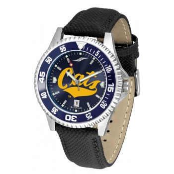 Montana State University Bobcats Mens Watch - Competitor Anochrome Colored Bezel Poly/Leather Band
