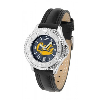 Montana State University Bobcats Ladies Watch - Competitor Anochrome Poly/Leather Band