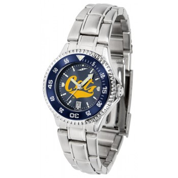 Montana State University Bobcats Ladies Watch - Competitor Anochrome - Colored Bezel - Steel Band