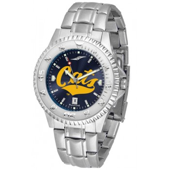 Montana State University Bobcats Mens Watch - Competitor Anochrome Steel Band