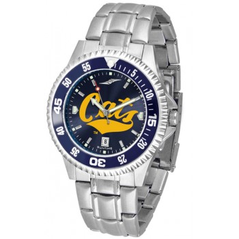 Montana State University Bobcats Mens Watch - Competitor Anochrome - Colored Bezel - Steel Band