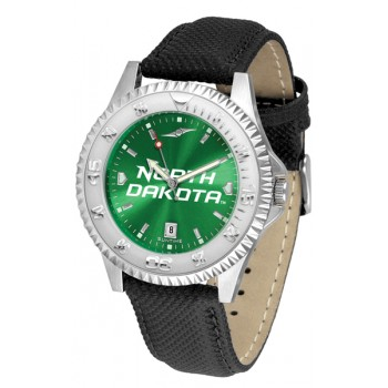 University Of North Dakota Fighting Sioux Mens Watch - Competitor Anochrome Poly/Leather Band