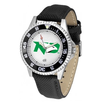 University Of North Dakota Fighting Sioux Mens Watch - Competitor Poly/Leather Band
