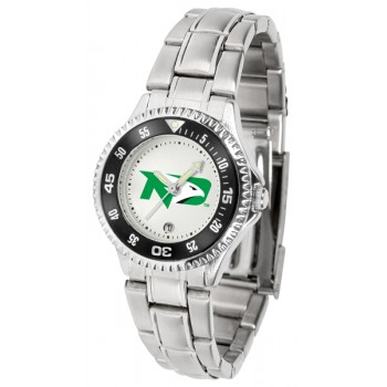 University Of North Dakota Fighting Sioux Ladies Watch - Competitor Steel Band