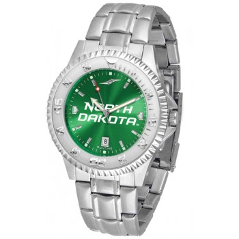 University Of North Dakota Fighting Sioux Mens Watch - Competitor Anochrome Steel Band
