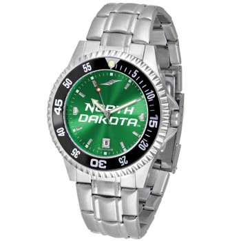 University Of North Dakota Fighting Sioux Mens Watch - Competitor Anochrome - Colored Bezel - Steel Band