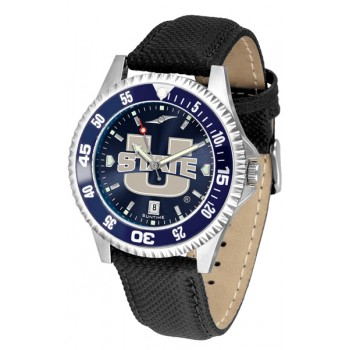Utah State University Aggies Mens Watch - Competitor Anochrome Colored Bezel Poly/Leather Band