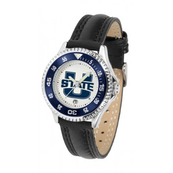 Utah State University Aggies Ladies Watch - Competitor Poly/Leather Band