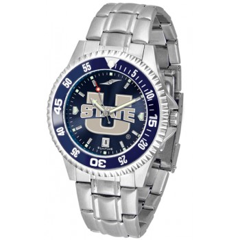Utah State University Aggies Mens Watch - Competitor Anochrome - Colored Bezel - Steel Band