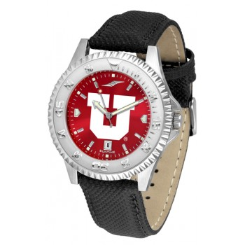 University Of Utah Utes Mens Watch - Competitor Anochrome Poly/Leather Band
