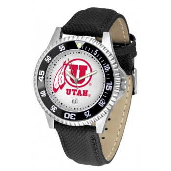 University Of Utah Utes Mens Watch - Competitor Poly/Leather Band