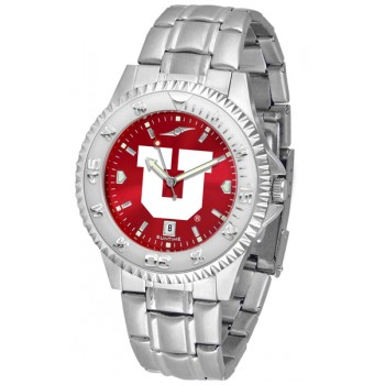 University Of Utah Utes Mens Watch - Competitor Anochrome Steel Band