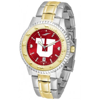 University Of Utah Utes Mens Watch - Competitor Anochrome Two-Tone